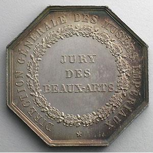 jeton octogonal en argent   Jury des Beaux-Arts    SUP/FDC