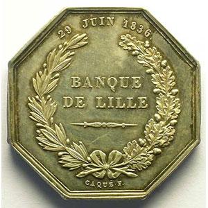 Jeton octogonal en argent   Louis-Philippe I    SUP