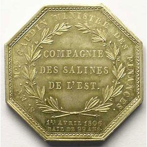 Jeton octogonal en argent   Napoléon I    SUP