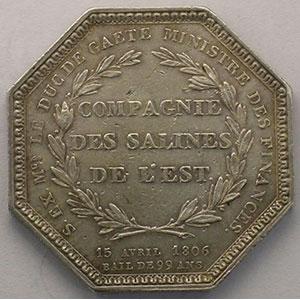 Jeton octogonal en argent   Napoléon I    TTB