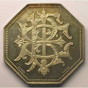 Jeton octogonal en argent    SUP/FDC
