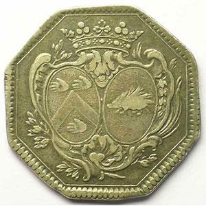 Jeton octogonal en argent    TB+