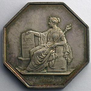 jeton octogonal en argent   tribunal de Ière instance de Paris   1849    FDC