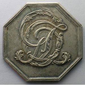 Jeton octogonal en argent    TTB/TTB+