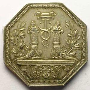 Jeton octogonal en argent    TTB+/SUP