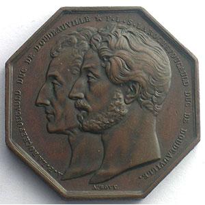 Jeton octogonal en cuivre   1842   Vie    SUP