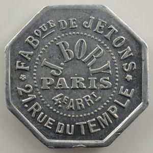 Jeton publicitaire octogonal en aluminium   10 cent   26mm    SUP
