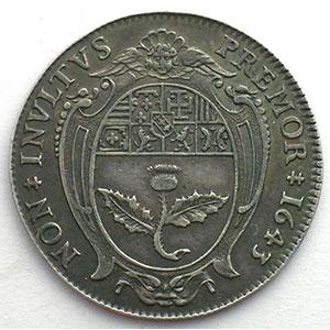 Jeton rond en argent   1643    TTB