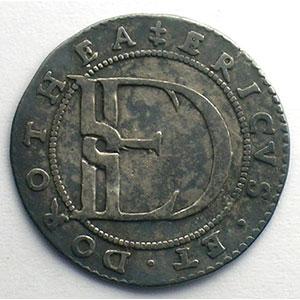 Jeton rond en argent   23mm   1575    TTB