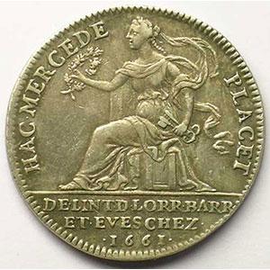 Jeton rond en argent   28mm   Louis XIV   1661    TTB