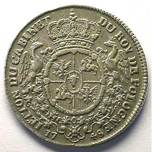 Jeton rond en argent   29mm   1748    TTB+