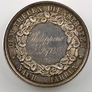 Jeton rond en argent  33mm   Der Verein in Carlsruhe   1864    TTB+/SUP