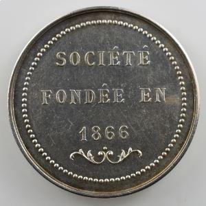 Jeton rond en argent  34mm   Sport Nautique d'Amiens   1866    SUP