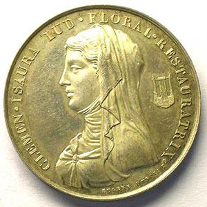 jeton rond en argent   35mm   1819    SUP/FDC