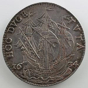 Jeton rond en argent   Armand Jean du Plessis, Cardinal de Richelieu   1634    TTB