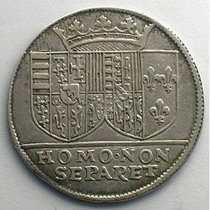 Jeton rond en argent   Charles III et Claude de France   28mm   1563    TTB+