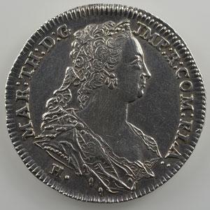 Jeton rond en argent   Franc de Bruges   (1752)    TTB+/SUP