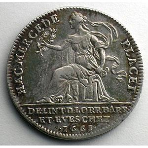 Jeton rond en argent   Louis XIV   1661    TTB