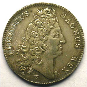 jeton rond en argent   Louis XIV   1714    SUP