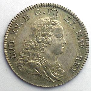 jeton rond en argent   Louis XV   1715    SUP