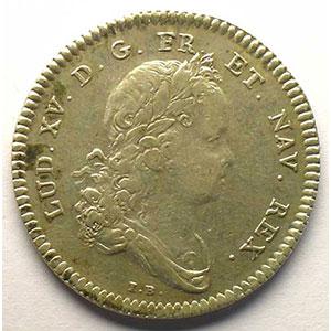 jeton rond en argent   Louis XV   1715    TB+/TTB