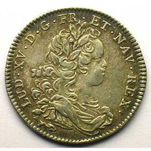 jeton rond en argent   Louis XV   1716    TB+/TTB