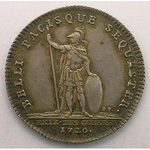 jeton rond en argent   Louis XV   1720    TTB+