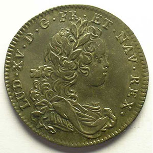 jeton rond en argent   Louis XV   1721    TTB/TTB+