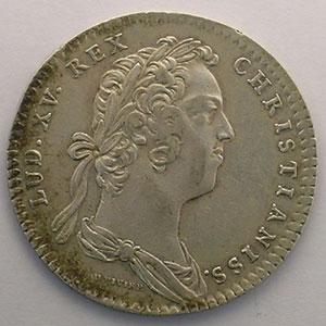 jeton rond en argent   Louis XV   1724    TTB