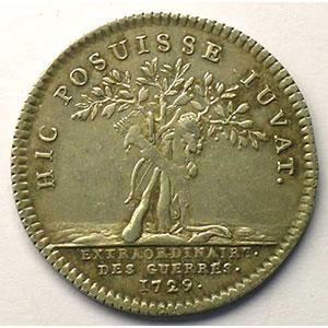 jeton rond en argent   Louis XV   1729    TTB