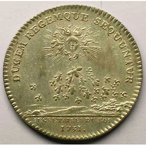 jeton rond en argent   Louis XV   1731    TTB+
