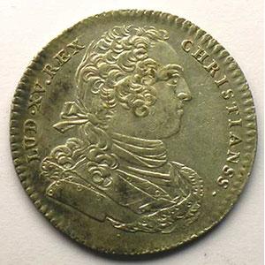 jeton rond en argent   Louis XV   1734    SUP