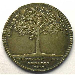 jeton rond en argent   Louis XV   1743    TTB