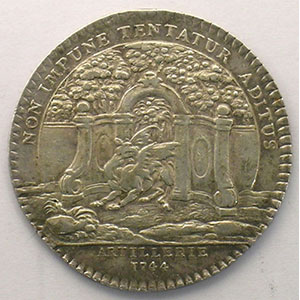 jeton rond en argent   Louis XV   1744    TTB/TTB+