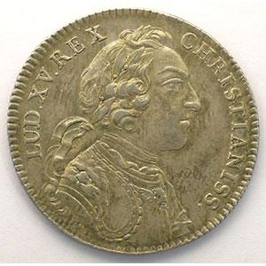 jeton rond en argent   Louis XV   1745    TTB