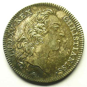 jeton rond en argent   Louis XV   1752    SUP/FDC