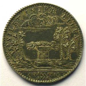 jeton rond en argent   Louis XV   1753    TTB