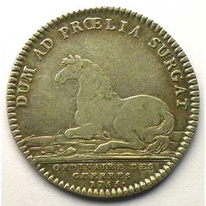 jeton rond en argent   Louis XV   1755    TB+/TTB