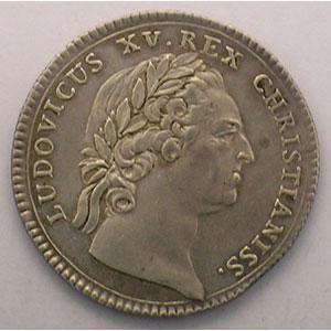 jeton rond en argent   Louis XV   1770    TTB/TTB+