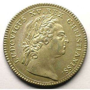 jeton rond en argent   Louis XV   1772    SUP