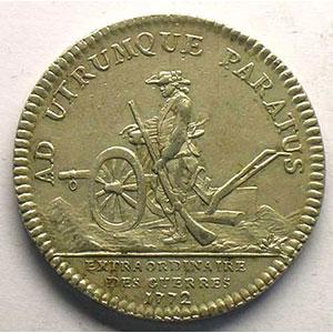 jeton rond en argent   Louis XV   1772    TTB+