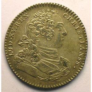 jeton rond en argent   Louis XV    TTB