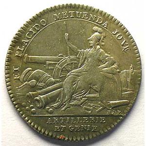 jeton rond en argent   Louis XV    TTB+