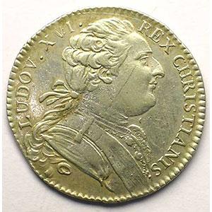 jeton rond en argent   Louis XVI   1768    TTB