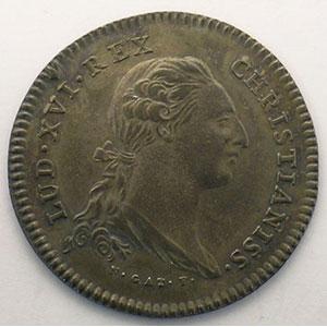 jeton rond en argent   Louis XVI   1776    SUP