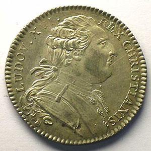 jeton rond en argent   Louis XVI    TTB+/SUP