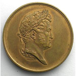Jeton rond en bronze doré  33mm   Louis-Philippe I   Multirisques    SUP/FDC