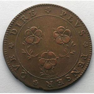 Jeton rond en cuivre   28,5mm   1682    TTB+