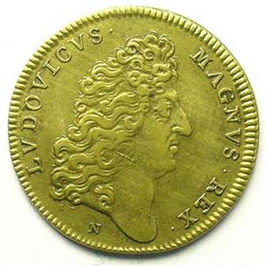 Jeton rond en cuivre   Louis XIV   25mm   s.d.    TTB