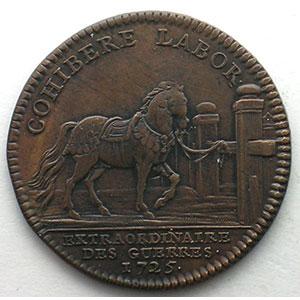 jeton rond en cuivre   Louis XV   1725    TTB/TTB+